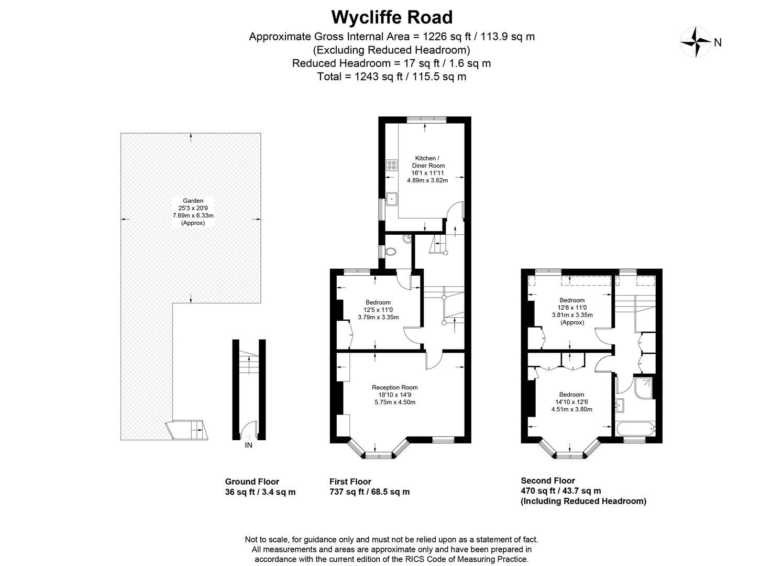 Floorplan for Wycliffe Road, London
